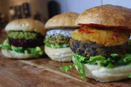 Our three Showstopper Burgers